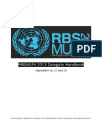 MUN Delegate Handbook 2013