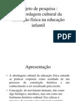 apresentação projeto de pesquisa