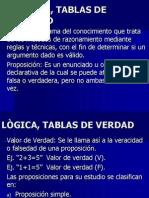 LÒGICA Y TABLAS DE VERDAD