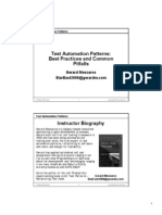 Test Automation Patterns
