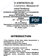2.Descriptive Statistics-measures of Central Tendency