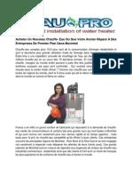 Acheter Chauffe Eau Prix - L'eau Pro
