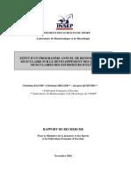Rapport Renforcement Musculaire Escrime de Haut Niveau (INSEP)