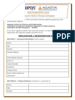 Anveshana 2012 Registration Form