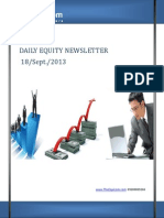 Equity Newsletter For Today 18-September