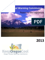 Oregon 2013 Global Warming Commission Report