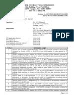 26.08.11cic Decision d. k. Bhaumik vs u. s. Lal Cpio (Sidbi)