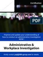 Administrative & Workplace Investigation