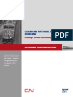 Canadian National Railway Company (SAP Business Transformation Study)