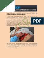 Cours Premiers Secours En Genève   ESSR