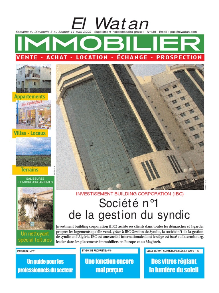 Supp I Mm O 05042009 Agent Immobilier Immobilier
