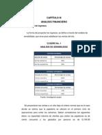 CAPÍTULO III ANALISIS FINANCIERO