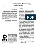 Decision Support Systems_A Summary, Problems, And Future Trends