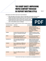 White Paper Cheat Sheet - Improving White Paper Content Through Academic Report Writing Style