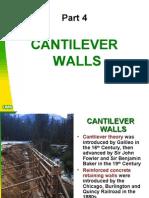 Cantilever Walls