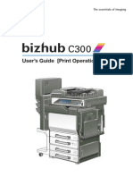Bizhub C300 Users Guide