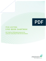 Tue Gutes und rede drüber! - Eine Studie zur Wirkungstransparenz des Corporate Citizenship in DAX-Unternehmen