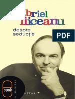 Despre Seductie - Gabriel Liiceanu