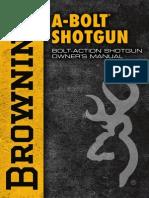 Browning a-bolt Shotgun