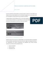 Parametros de Control de La Calidad Del Laser en El Corte de Vidrio