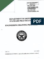 MIL-STD-100F Engineering Drawing Practices