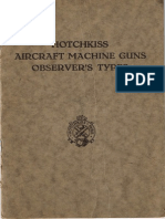 HOTCHKISS AIRCRAFT MACHINE GUNS OBSERVER´S TYPES
