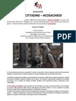 """Comunicato Stampa """"Nuove cittadine"""" e #COSACHIEDI"""