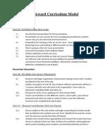 arts award curriculum model