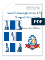 607 How BNSF Railway Was Able to Implement an ALM Strategy