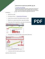Cara Mudah Download eBook Dari Google Books Jadi PDF