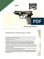 Walther p38 Manual German p5
