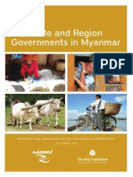 State and Region Governments in Myanmar,MDRI-CESD