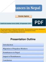 Remittances in Nepal