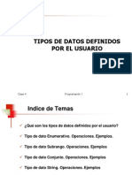 Clase4 - Tipos Definidos Por El Usuario