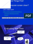 evaluating web sites powerpoint