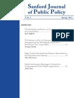 Sanford Journal of Public Policy - Volume 3 No. 1