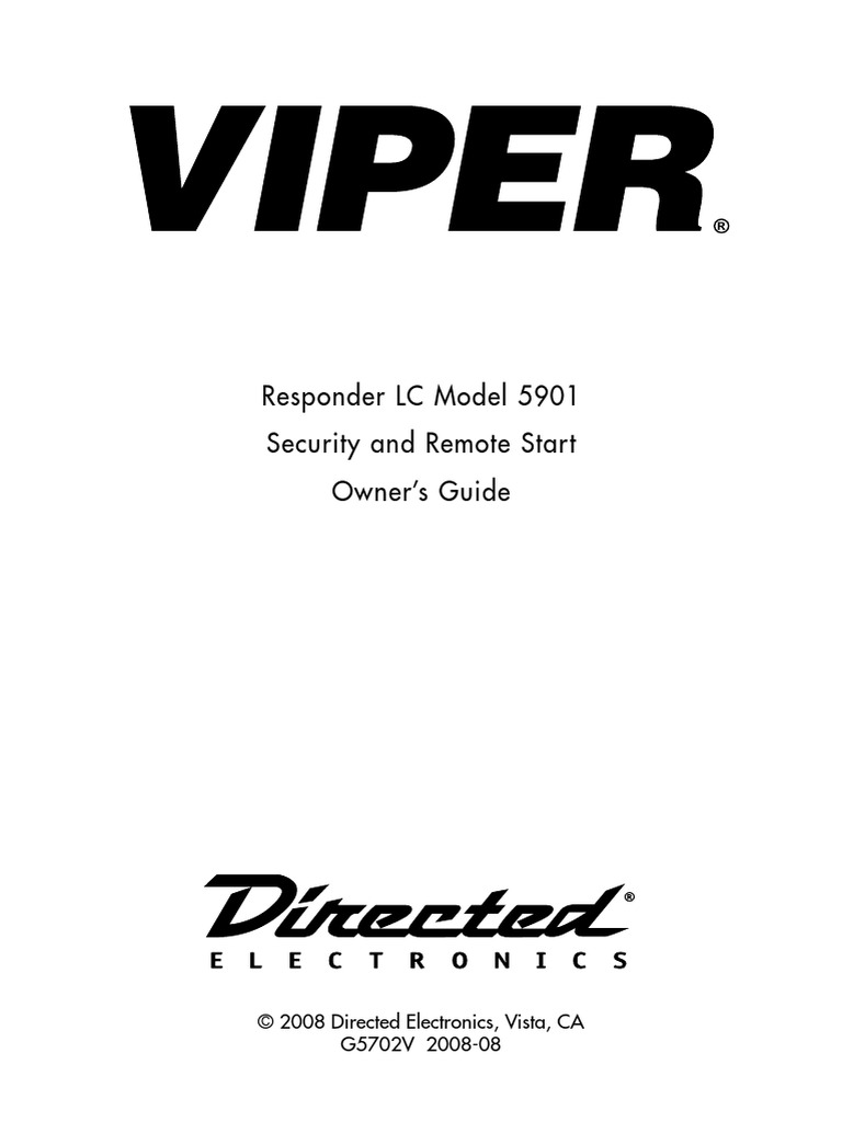Viper 5901 Owners Guide Electromagnetic Interference Menu Wiring Diagram Computing