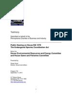PA Chamber Testimony on HB 1576 (September 17, 2013)