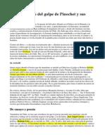 Mapa Literario Del Golpe de Pinochet y Sus Secuelas