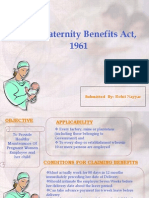 Maternity Benefit Act 1961
