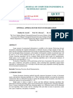 Optimal Approach for Text Summarization