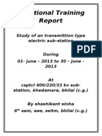 Project report of transmission type eletrical substation