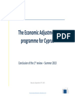 The Economic Adjustment programme for Cyprus - 1st review