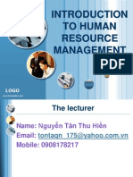 Chapter 1- Introduction to HRM