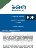 GEO Investor Presentation (June 2009)