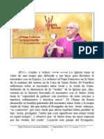 Papa Francisco en Santa Martha. 17-09-2013. Martes XXIV Semana T.O.