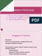 Materi Penganggaran Anggaran Produksi