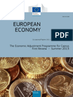 The Economic Adjustment Programme for Cyprus – First Review - Summer 2013 (report)
