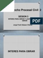 Sesion 3-Interes Para Obrar y Legitimidad Para Obrar Procesal Civil