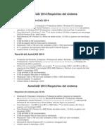 AutoCAD - Requisitos Del Sistema